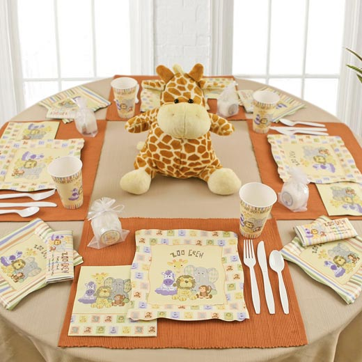 Where Can I Find Zoo Crew Baby Shower Theme Tableware